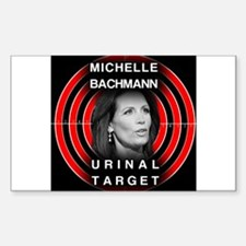 Michelle Bachmann Urinal Target Decal