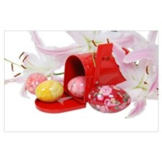 Lilies Eggs Mailbox Poster