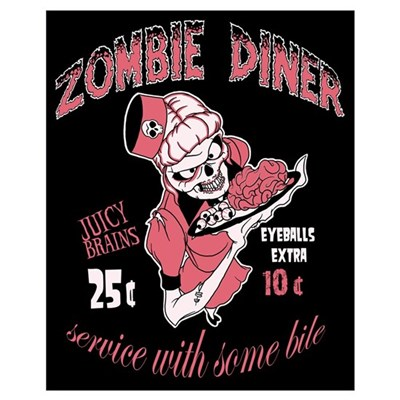 zombie diner Canvas Art