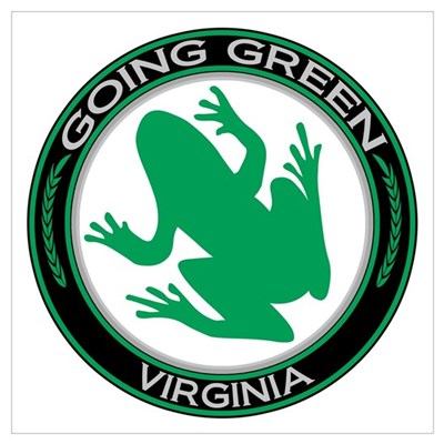 Going Green Virginia (Frog) Poster