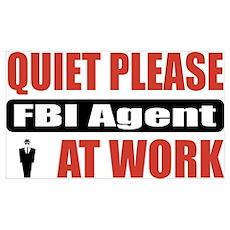 FBI Agent Work Poster
