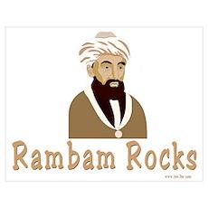 The Rambam Rocks Poster