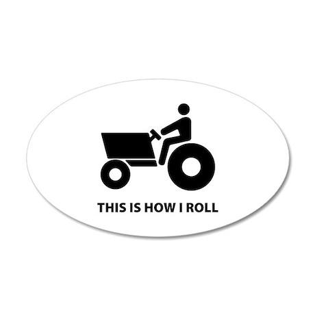 How I Roll 38.5 x 24.5 Oval Wall Peel