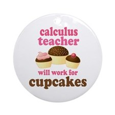 Funny Calculus Teacher Ornament (Round)