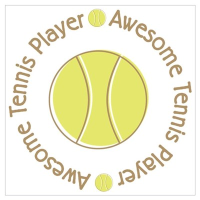 Awesome Tennis Player Poster