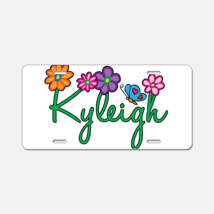 Kyleigh Flowers Aluminum License Plate