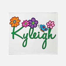 Kyleigh Flowers Throw Blanket