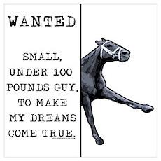 100 pounds jockey. Poster