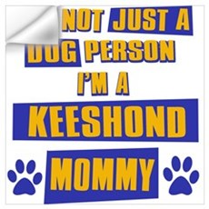 Keeshound Mommy Wall Decal