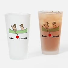 I Love Naked Canoeing Drinking Glass