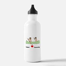 I Love Naked Canoeing Water Bottle