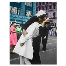 The WWII Kiss Poster