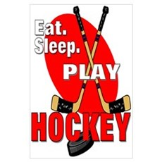 Eat Sleep Play Hockey Poster