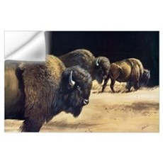 3 Bison Art Print Wall Decal