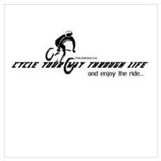 cycle your way through life-and enjoy the ride Fra Canvas Art
