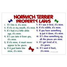 Norwich Terrier Property Laws 2 Poster