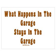 What Happens In Garage Dad Poster
