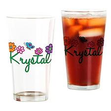 Krystal Flowers Drinking Glass