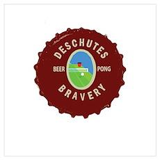 Deschutes Bravery: Beer Pong Poster