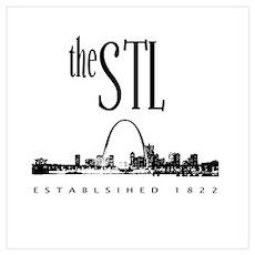 the STL (black print) Poster