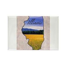 Cute Illinois Rectangle Magnet