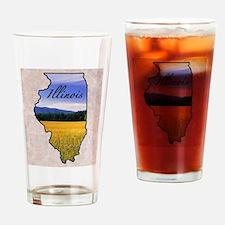 Cute Illinois Drinking Glass