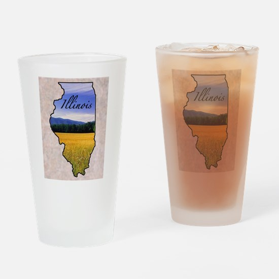 Funny State Drinking Glass