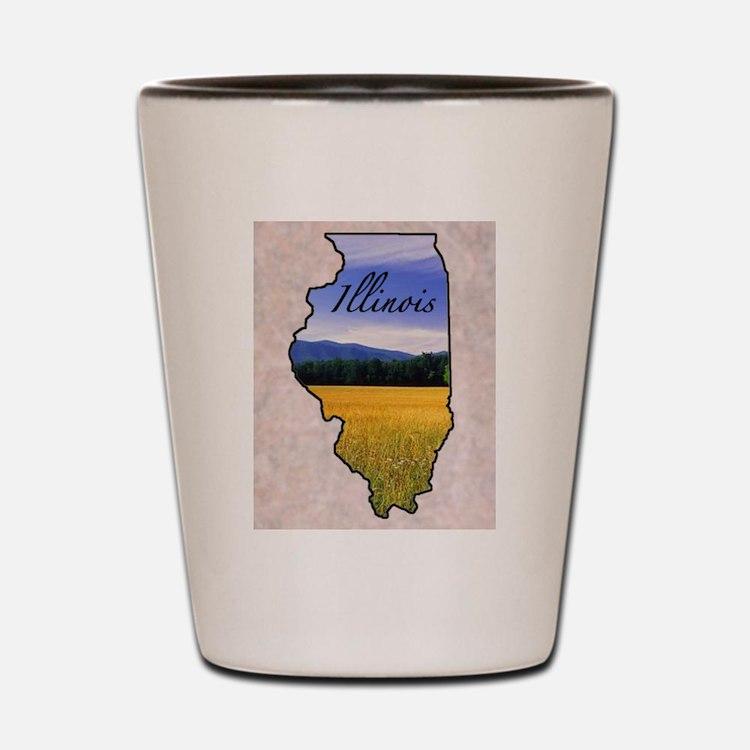 Cute Illinois Shot Glass