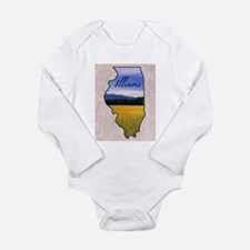 Cute State Long Sleeve Infant Bodysuit