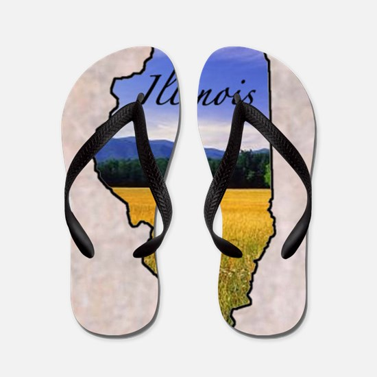 Cute Illinois Flip Flops