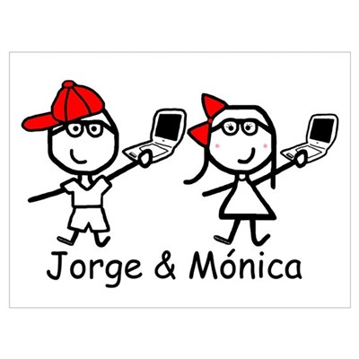 Laptops - Jorge & Monica Canvas Art