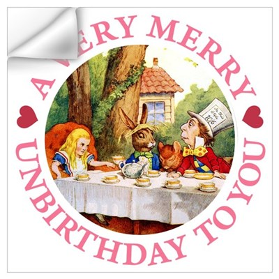 A VERY MERRY UNBIRTHDAY Wall Decal