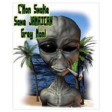 C'mon Smoke Some Jamaican Gre Poster