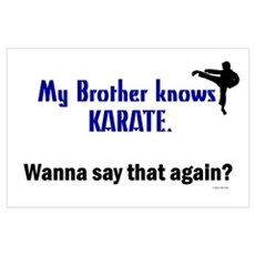 My Brother Knows Karate Poster