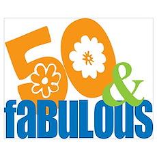 50th birthday & fabulous Poster