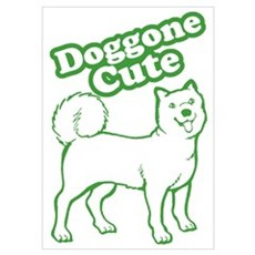 Doggone Cute Green Doggie Poster