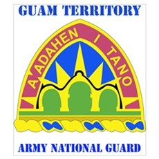 DUI-GUAM TERRITORY ANG WITH TEXT Small Framed Prin Poster