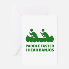 Paddle Faster Greeting Card