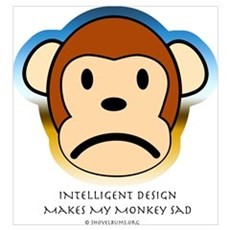 Intelligent Design Makes My Monkey Sad... Large Po Canvas Art