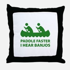 Paddle Faster Throw Pillow