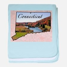 Cute Connecticut baby blanket