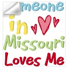 Someone in Missouri Loves Me Wall Decal