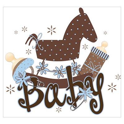 Baby Boy Rocking Horse Poster
