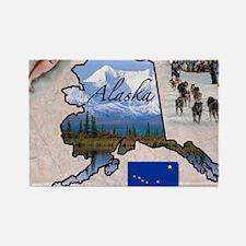 Cute Alaska usa state Rectangle Magnet (10 pack)