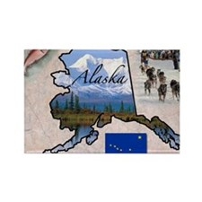 Cute Alaska Rectangle Magnet