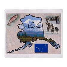 Cute Alaska Throw Blanket