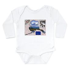 Cute Alaska Long Sleeve Infant Bodysuit