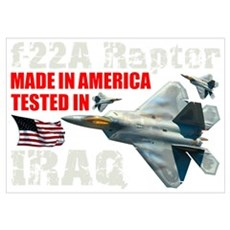 f-22A Raptor Made In America Poster