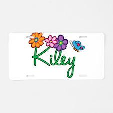 Kiley Flowers Aluminum License Plate