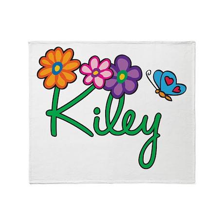 Kiley Flowers Throw Blanket